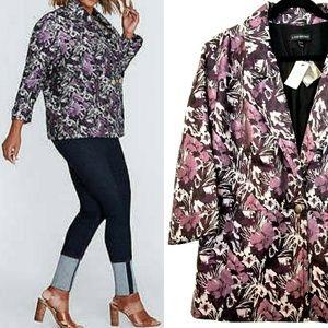 22/24 Lane Bryant Purple Floral Jacquard Blazer Jacket NWT